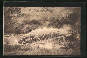 AK Leopoldville, Pont sur la rivière N` Pozo