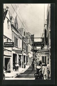 AK Curacao, Shopping-District, Strassenpartie im Zentrum