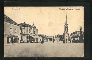 AK Ersekujvdr, Kossuth Lajos téri részlet
