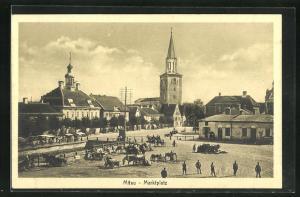 AK Mitau, Blick über den Marktplatz