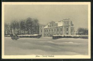 AK Mitau, Schloss Waldeck im Winter