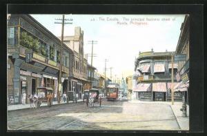 AK Manila, The Escolta, The principal business street of Manila, Tramway