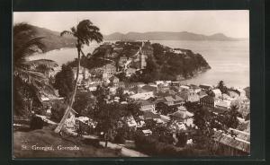 AK St. George`s / Grenada, Ortsansicht aus der Vogelschau