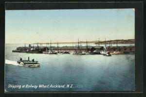 AK Auckland, Shipping at Railway Wharf