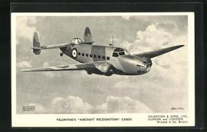 AK Flugzeug Lookheed Hudson über den Wolken