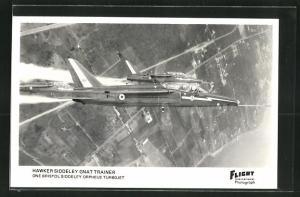 AK Flugzeug Hawker Siddeley Gnat Trainer, One Bristol Siddeley Orpheus Turbojet in the air