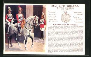 AK 2nd Life Guards, Battle Honours, Britische Soldaten in Uniformen zu Pferde