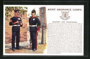 AK Army Ordnance Corps, Britische Soldaten in Uniformen mit Gewehren