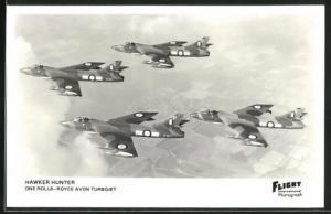AK Hawker Hunter, Kampfstaffel in Formation