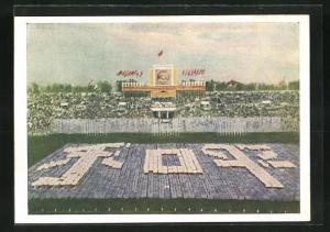 AK Moskau, Turnfest 1954, Feierlichkeiten im Stadion