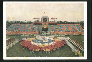 AK Moskau, Turnfest 1954, Festlichkeiten in Stadion