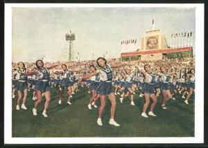 AK Moskau, Turnfest 1954, Gymnastischer Tanz