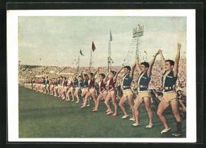AK Moskau, Turnfest 1954, Vorführung im Stadion