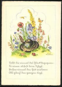 Künstler-AK Liesel Lauterborn: Sollt dir einmal das Glück begegnen...