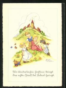 Künstler-AK Liesel Lauterborn: Wo Kinderlachen Frohsinn bringt...