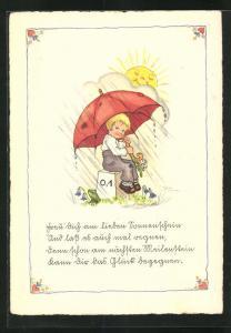 Künstler-AK Liesel Lauterborn: Freu` dich am lieben Sonnenschein...