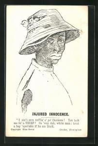 AK Injured Innocence..., schwarzer Hühnerdieb