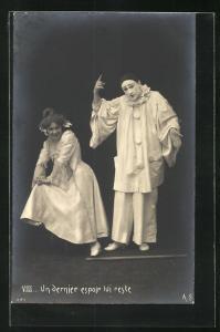 AK Un derniere espoir lui reste..., Pierrot und Angebetete