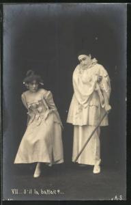 AK S`il la battait?..., Pierrot und Angebetete