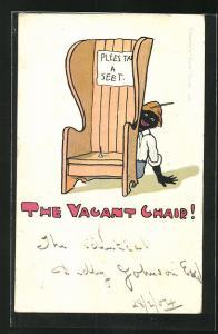 AK The vacant chair!, Scherz, Sitzfalle