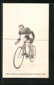 AK Bert Andrews, English Champion Cyclist 1906, Radrennfahrer