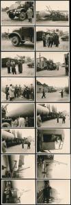 16 Fotografien Esser, Solingen, Ansicht Solingen, Kran verlädt Tank für Tankstelle Esser Merscheider Str. 99