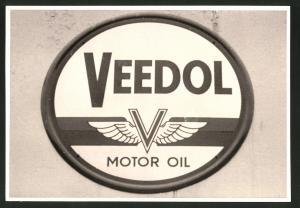 Fotografie Werbeschild Veedol Motor Oil, Solingen, Tankstelle August Esser, Merscheider Str. 99