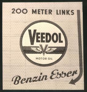 Fotografie Fotograf unbekannt, Ansicht Solingen, Merscheider Str., Werbeschild Veedol Motor Oil der Tankstelle Esser