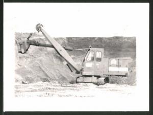 Fotografie Bagger - Löffelbagger in einem Tagebau