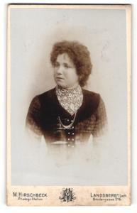 Fotografie M. Hirschbeck, Landsberg a/Lech, Portrait bürgerliche junge Dame