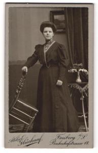 Fotografie Atelier Glückauf, Freiberg i/S, Portrait junge gutbürgerliche Dame