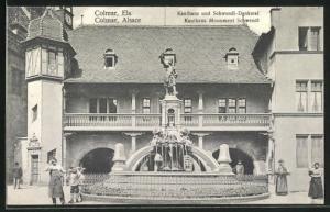 AK Colmar, Kaufhaus und Schwendi-Denkmal