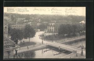 AK Mülhausen, Eingang der Stadt aus der Vogelschau