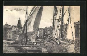 AK Saint Tropez, Une vue du Port, Schiffe