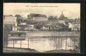 AK Gray, Vue gènèrale, Gare des Chemins de fer vicinaux