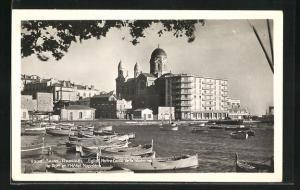 AK Saint-Raphael, Eglise Notre-Dame de la Victoire le Port et Hotel Napolèon