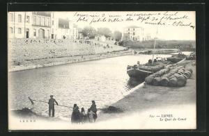 AK Lunel, Le Quai du Canal