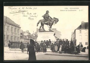 AK Fougeres, Statue de Lariboisière