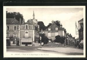 AK Segrè, Place de la Rèpublique et Rue Pasteur