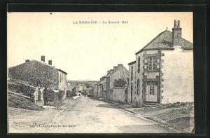 AK La Romagne, La Grande Rue