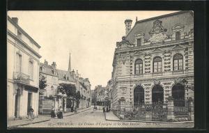 AK Saumur, La Caisse d` Epargne et la Rue Dacier