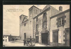 AK La Romagne, La Place de l` Eglise