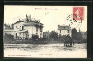 AK Luxeuil-les-Bains, Maisons dans l`Avenue de la Gare