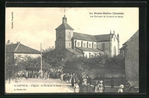 AK St. Sauveur, L`Eglise, la Sortie de la Messe