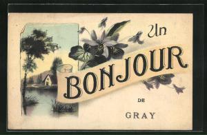 AK Gray, Un Bonjour, Souvenir de Gray, Maison du Lac