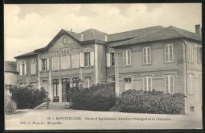 AK Montpellier, Ecole d`Agriculture, Pavillon Principal et la Direction