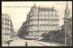 AK Montpellier, Rue Nationale et Clocher Sainte-Anne