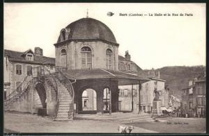 AK Bort, La Halle et la Rue de Paris
