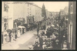 AK Cande, Cavalcade 1906, Voitute fleurie