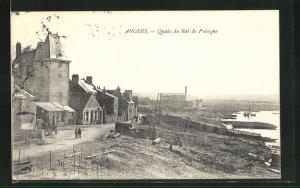 AK Angers, Vue sur le Quais du Roi de Pologne
